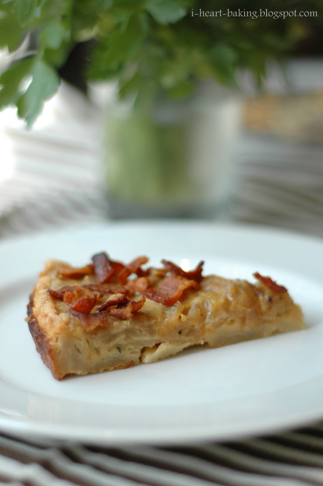 heart baking!: french onion and bacon tart