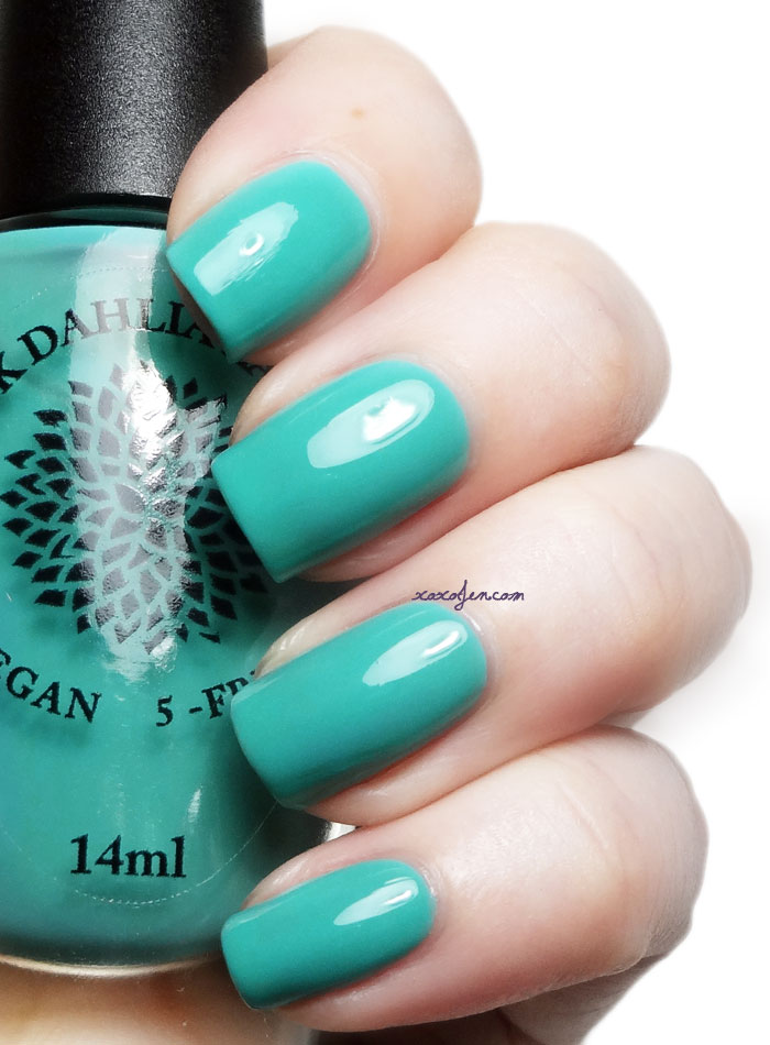 xoxoJen's swatch of Black Dahlia Teal Hydrangea