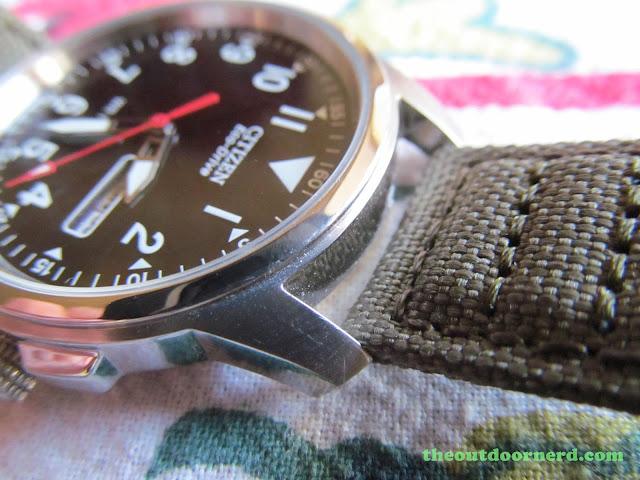 Citizen BM8180-03E Men's Eco-Drive Watch: Closeup Of Case And Band