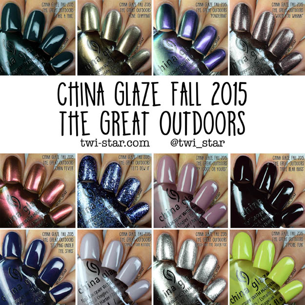 China Glaze The Great Outdoors Fall 2015 polish swatches
