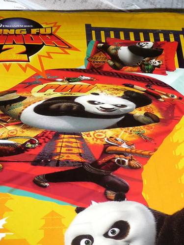 Kung Fu Panda Pow Single Bed Quilt Cover Set for kids