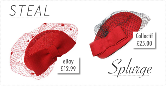 Steal or splurge? Red pillbox hats