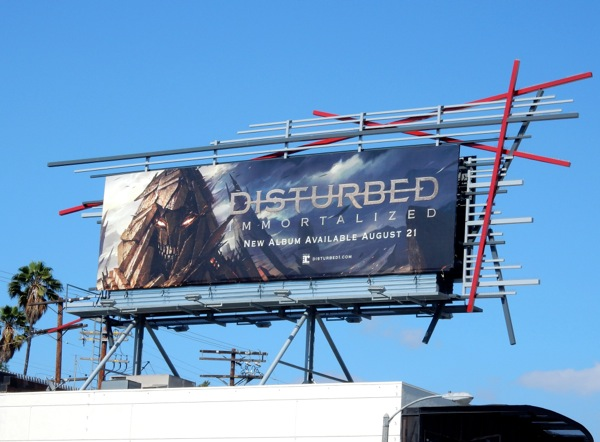 Disturbed Immortalized album billboard