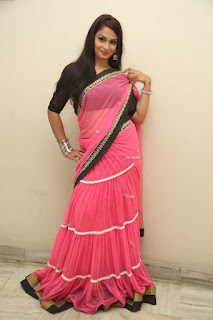 Sonali in Pink Saree with black blouse at Premikulapai phd movie audio release function