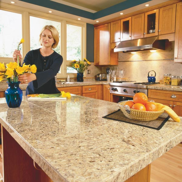 Granite Tops For Kitchen : Tile Kitchen Countertops Kitchen Ideas