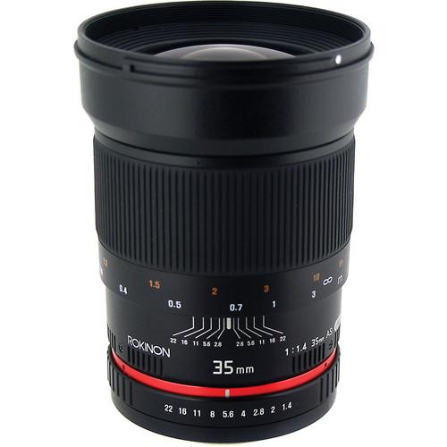 lente 50mm, 35mm, samyang, rokinon, nuevo