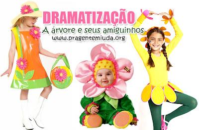 dramatização para primavera