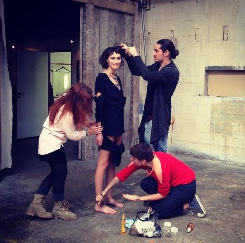 Margaux Brooke - Behind the scenes for Revs Magazine. A Not So Model Life, anotsomodellife.com
