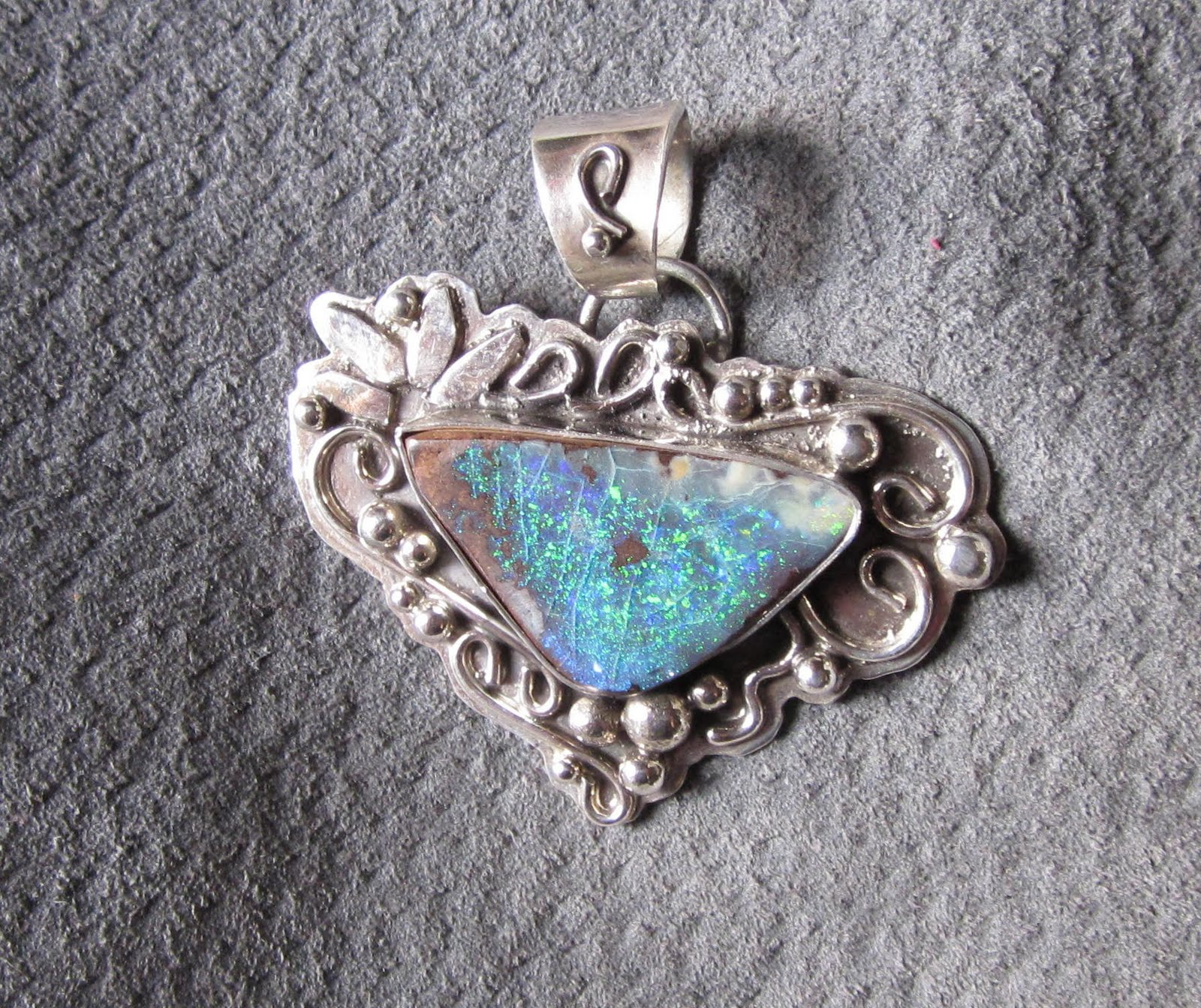 Nancy green jewelry boulder opal pendant for Nancy b fine jewelry