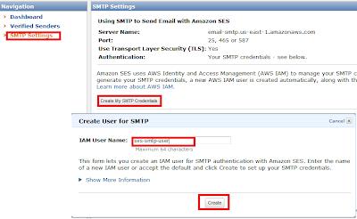 Tạo tài khoản SMTP trên Amazon SES