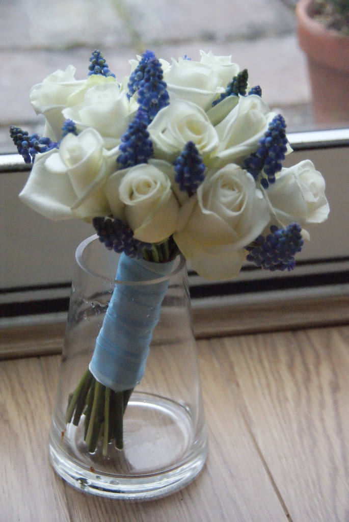 Beautiful Blue And White Wedding Flowers
