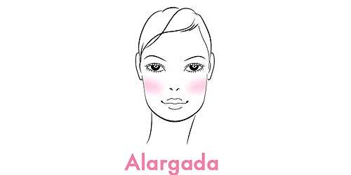 aplicar colorete en caras alargadas
