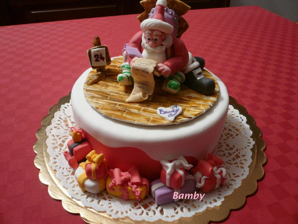 Bamby 39 s cake torte personalizzate natale torta - Torte natalizie decorate ...