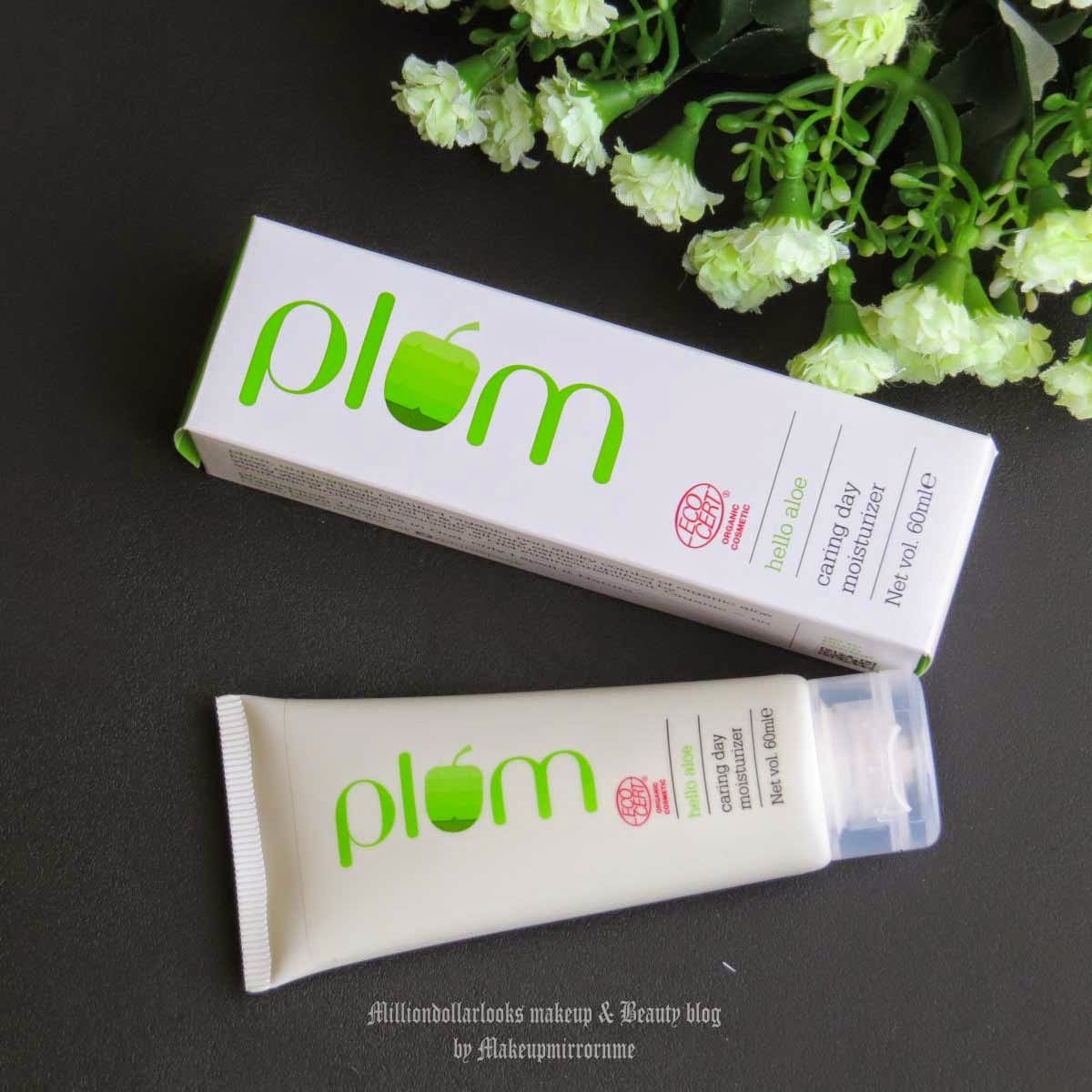 Plum Hello Aloe Caring Day Moisturizer Review & Pictures, Indian beauty blogger, Plum goodness products review, Plum goodness skincare range, Indian beauty blog, Indian makeup and beauty blog, Day moisturiser, Moisturiser for dry and sensitive skin type, Best organic skincare brands available in India, Certified organic skincare brand, Top indian beauty blogs, No shine formula, Skin care products, CTM routine for dry skin
