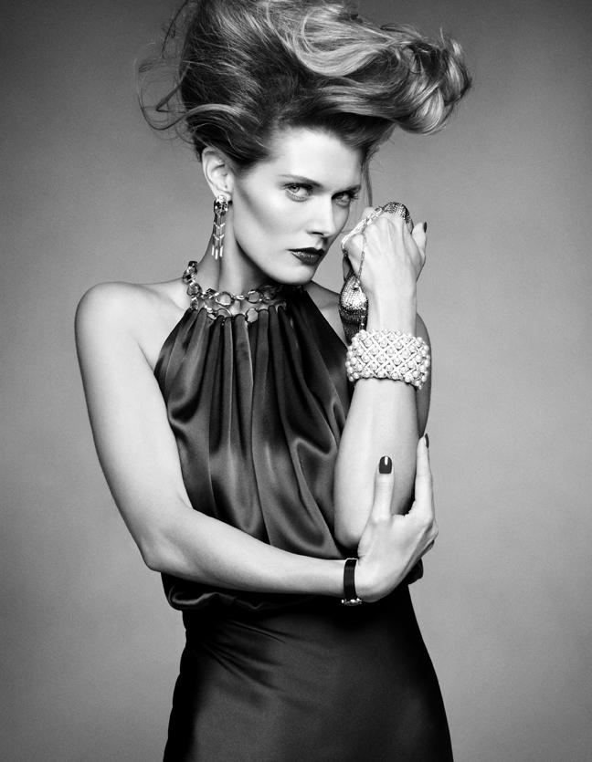 In black and white vogue