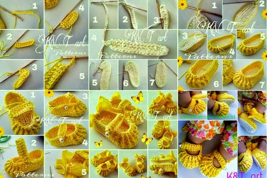 Crochet Tutorial Zapatitos Escarpines : Botitas de Crochet para Bebe Paso a Paso - Patrones Crochet