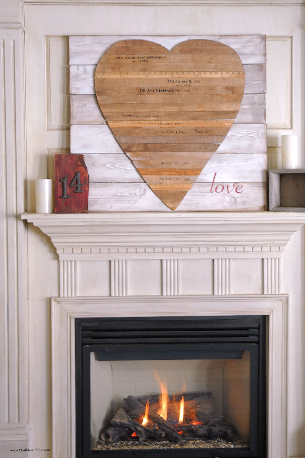 chalkboard blue how i made our wooden heart