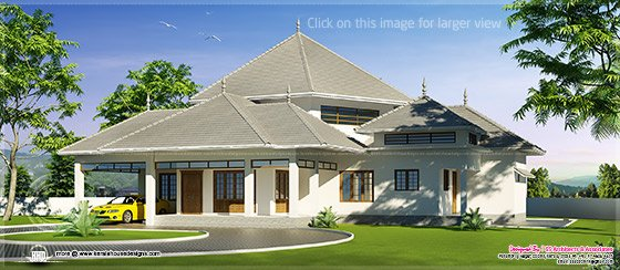 Kerala modern roof house