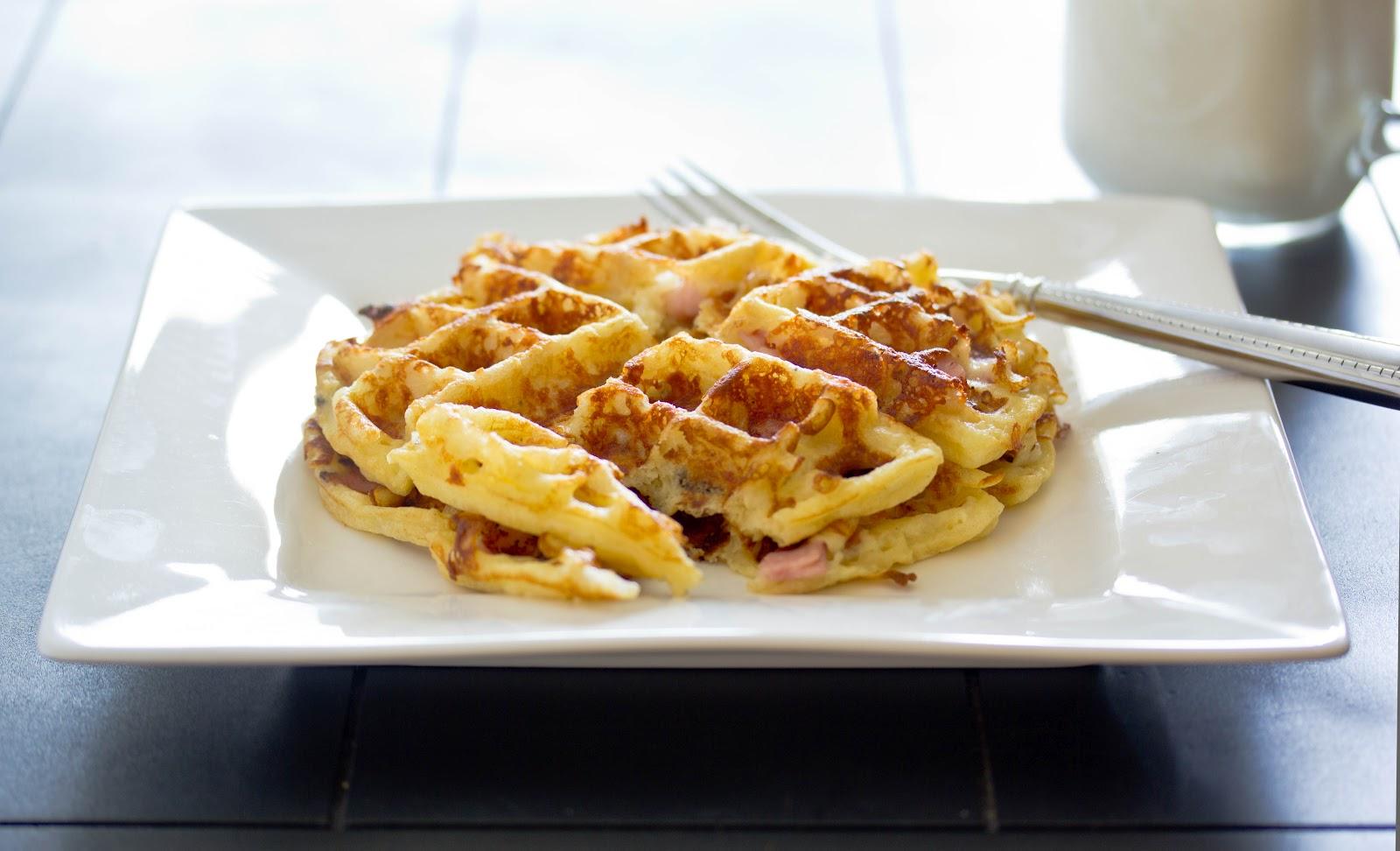 Ham 'n' Cheese Waffle