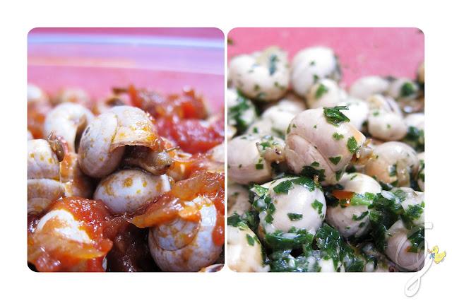 Babbaluci (lumache) rossi e bianchi del Festino di Santa Rosalia