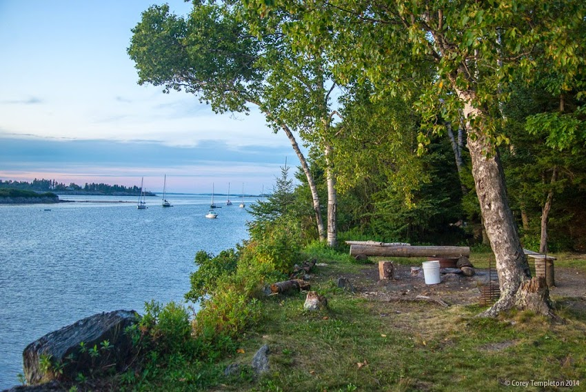 August 2014 Summer Jewell Island camp site in Casco Bay near Portland, Maine USA photo by Corey Templeton
