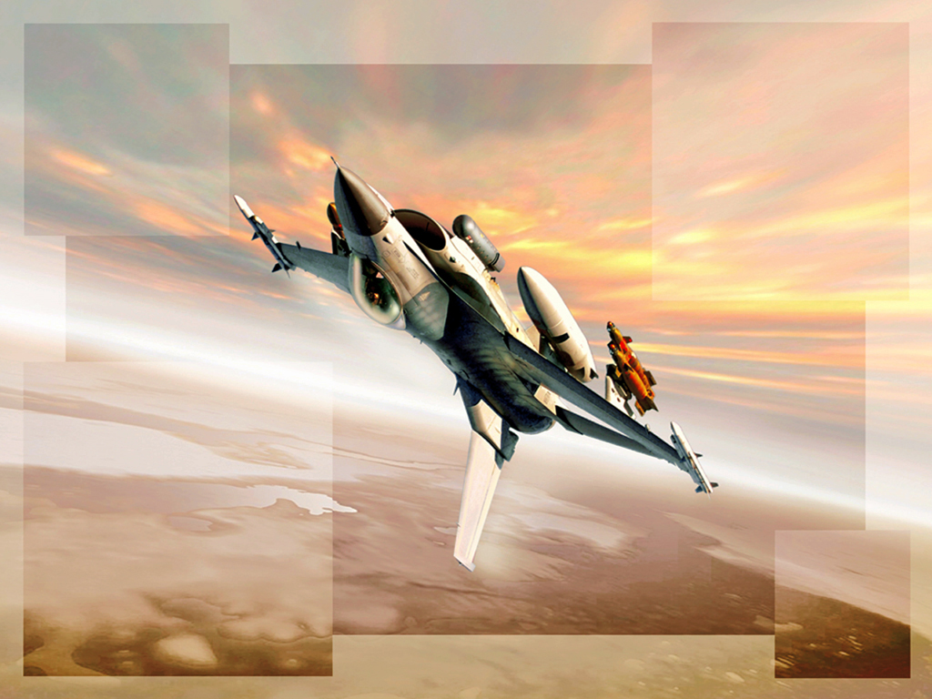 Entertainment: F-16 Swirl Wallpapers