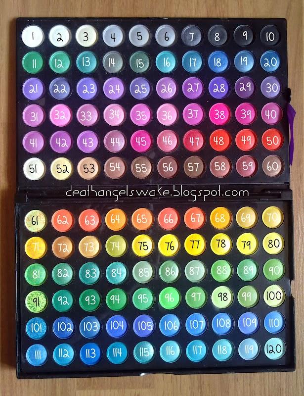 120 palette chart
