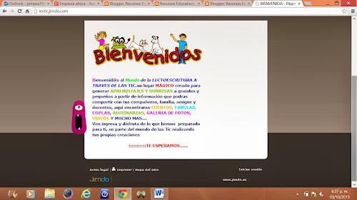 CONTRUCCION DE LA PAGINA WEB EDUCATIVA DE LA INSTITCION SANTA ...