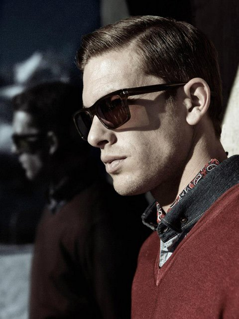 Model Adam Senn for Pierre Cardin