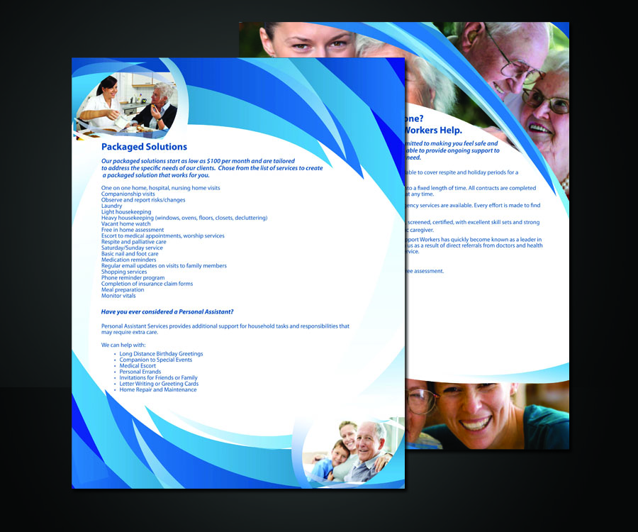 one page brochure design