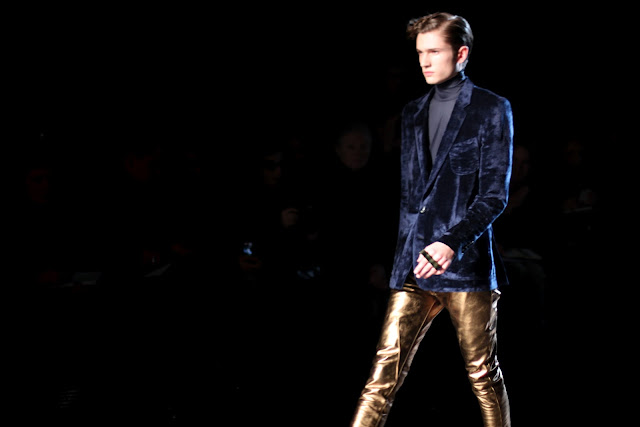 Gold trousers from John Lawrence Sullivan