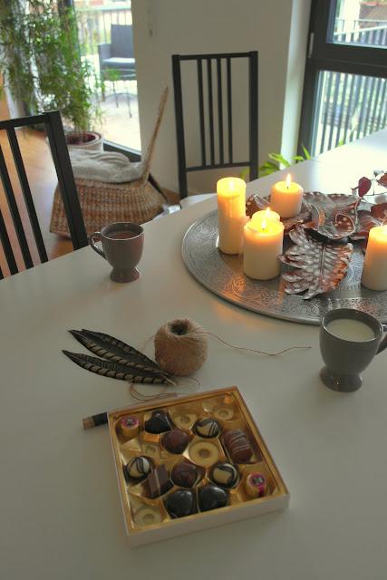 Nachmittags Bastel mit lecker Pralinen von Lindt