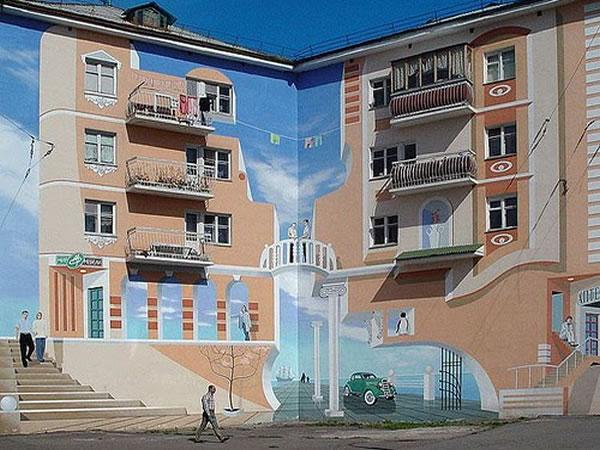 Técnica de la perspectiva en edificios. Edificio