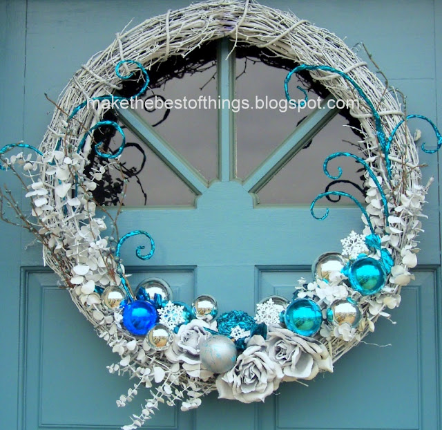 Make The Best Of Things Blue And White Wreath Redo Fourth