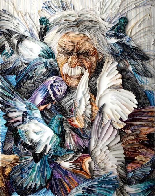 Belos trabalhos com tiras de papel por Yulia Brodskaya