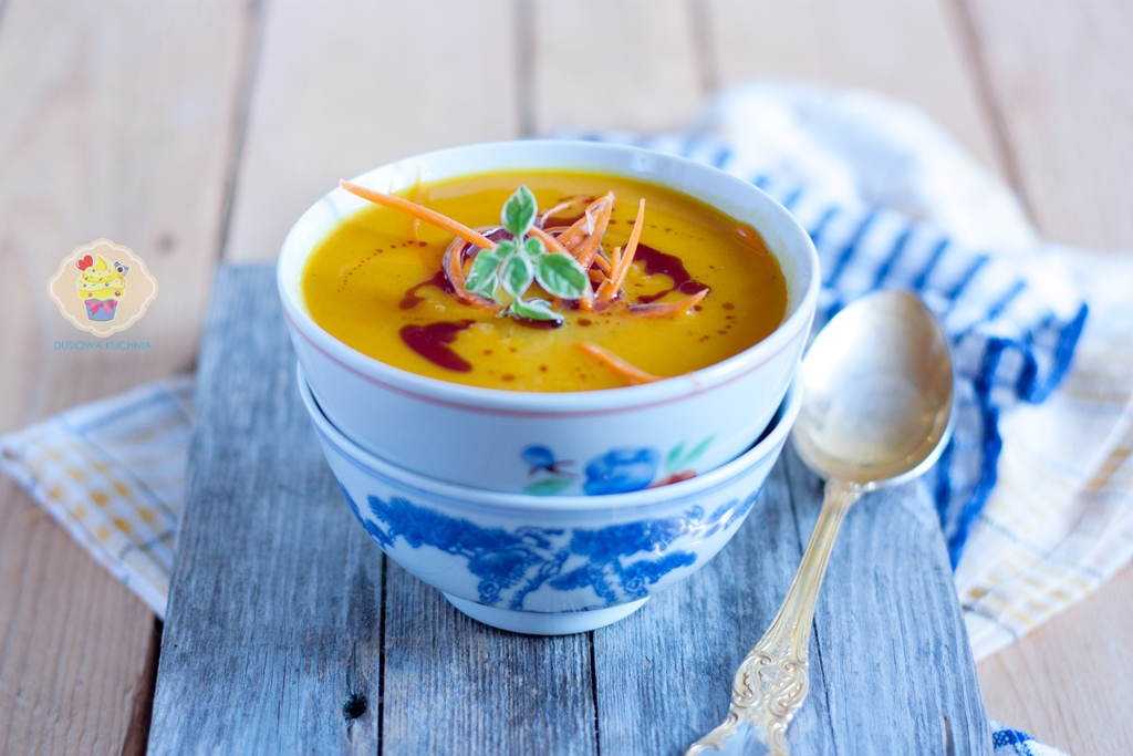 krem z batatów, zupa z batatów, zupa ze słodkich ziemniaków, krem z batatów z marchwią, przepisy z batatami