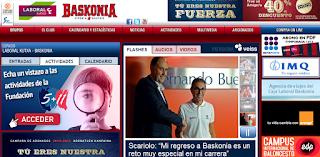 Captura de pantalla de la página web del Baskonia: www.baskonia.com - Fecha: 26 de junio de 2013.