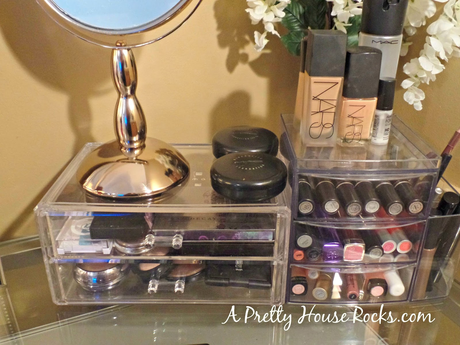 I Bought These Acrylic Cases And Make Up Mirror From TJ Maxx....another  Good Buy. These Acrylic Cases Are Usually Very Expensive.