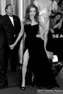 Angelina Jolie over red carpet at 2012 Academy Awards - Oscar arrival