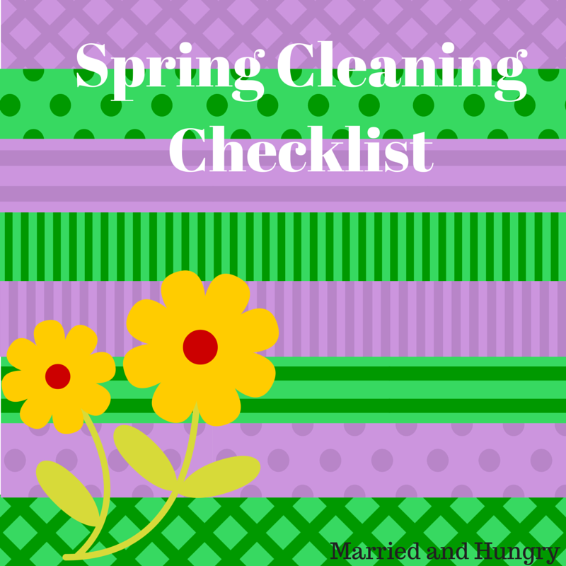 Spring Cleaning tips and ideas with a check list