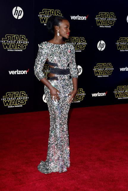 "Actress, Model, @ Lupita Nyong'o - premiere of ""Star Wars: The Force Awakens"" in Hollywood"