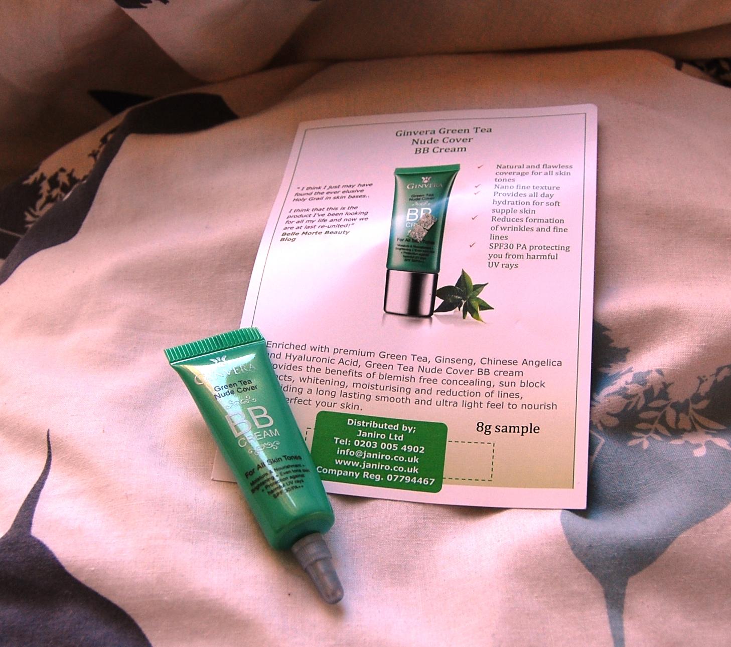 Sleepy Lah : Ginvera Green Tea Aqua Whitening Cream and