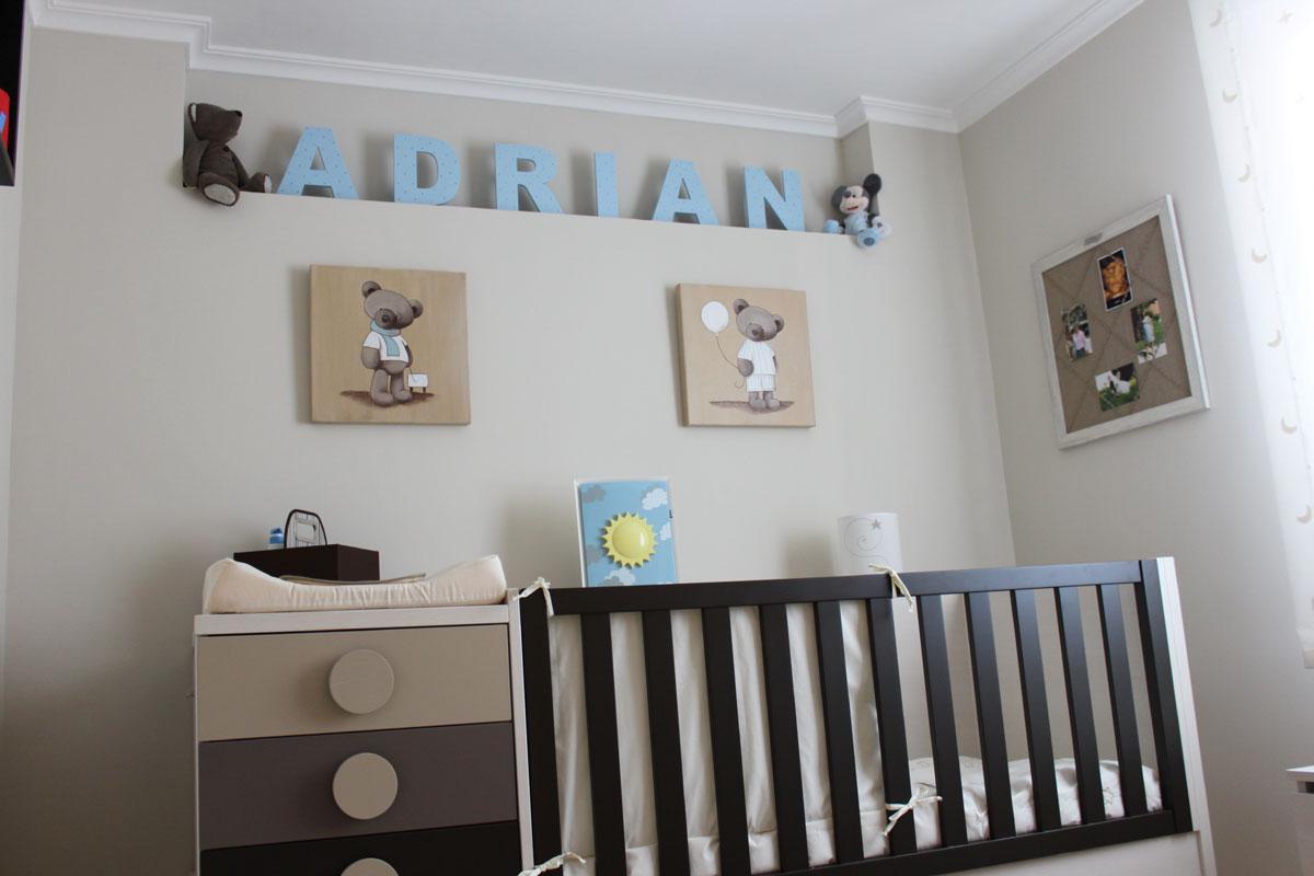 Habitaciones en gris y azul ser padres es - Habitaciones bebe gris ...