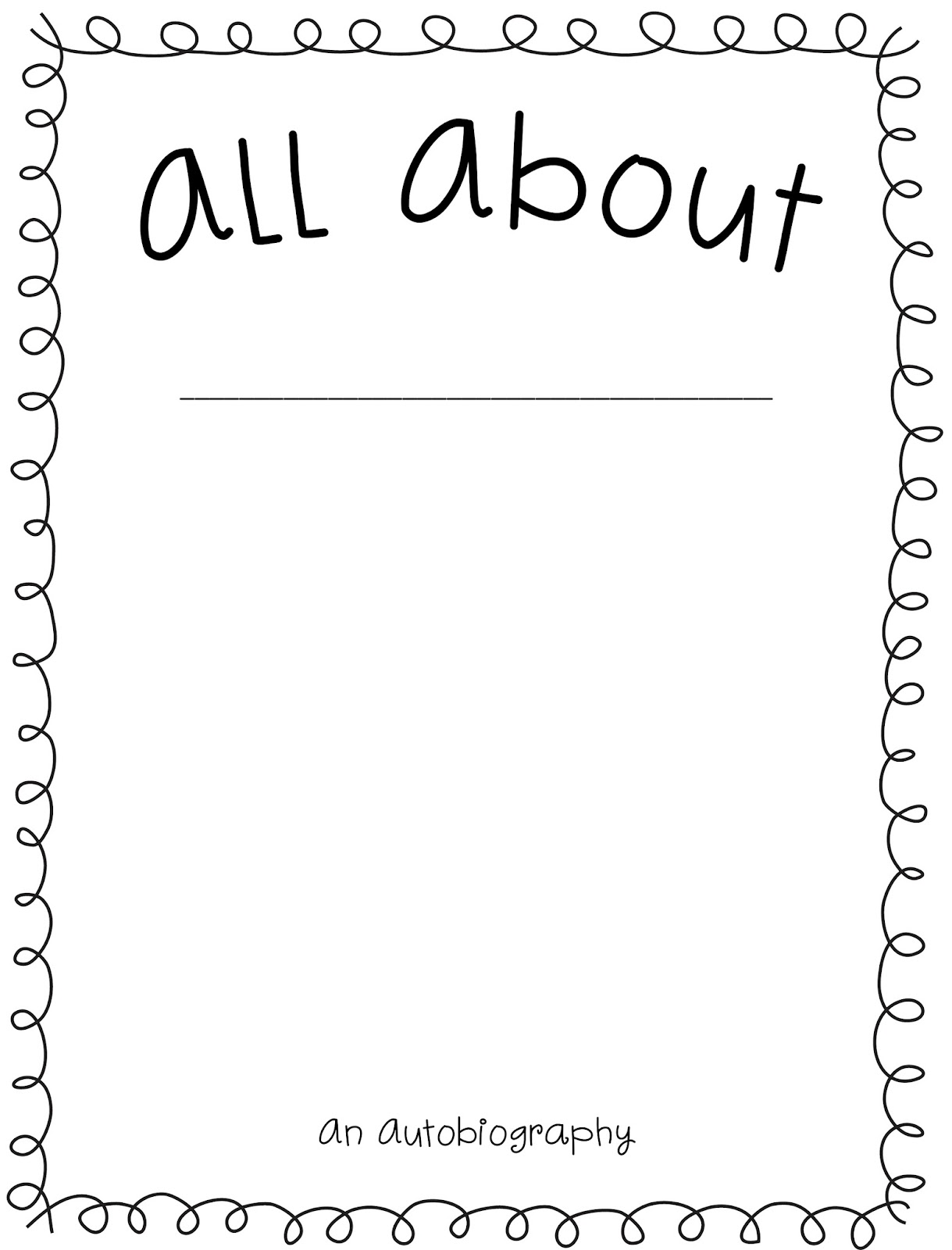 autobiography cover page template - autobiography cover page example