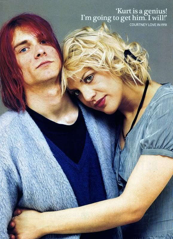 info on kurt cobain and courtney loves relationship