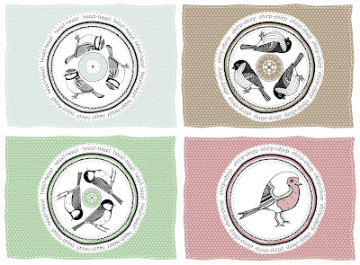 Bird themed bag designs for Pocket Wren.