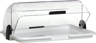 Tava de prezentare cu capac roll-top transparent 465x310x(H)190 mm