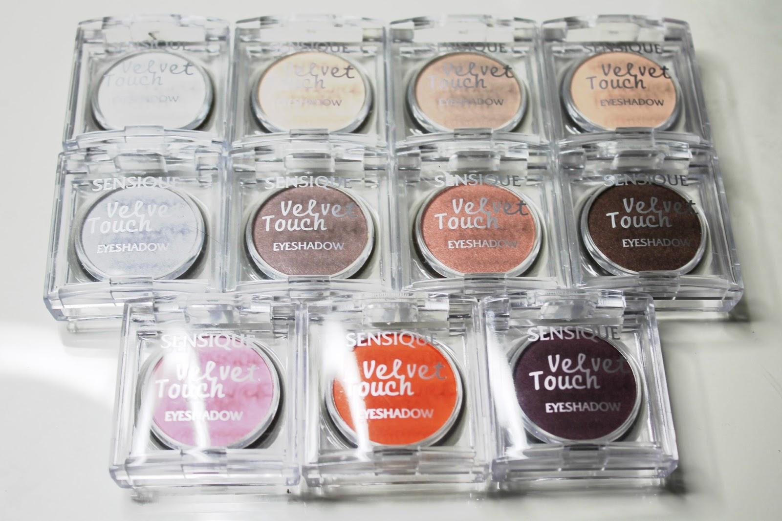 Lutowe nowości Drogerii Natura -  Sensique Velvet Touch Eyeshadows SWATCHE
