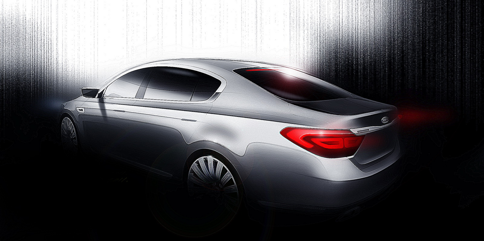 Kia reveals sketches of all new flagship sedan   Auto Car   Best