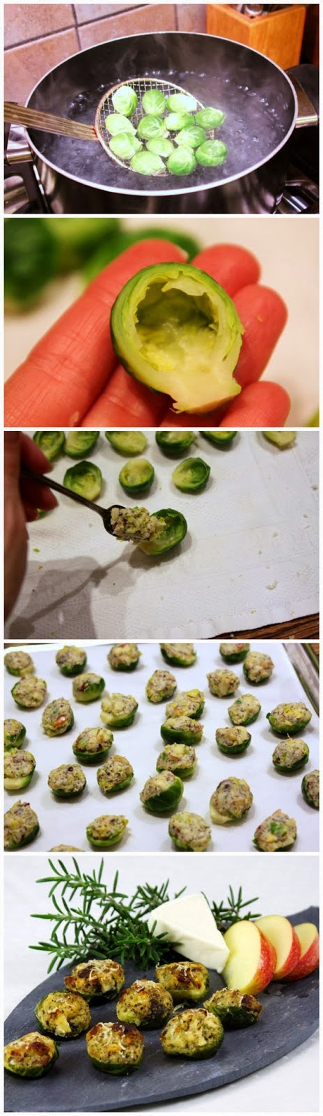 Apple and Bacon Stuffed Brussels Sprouts